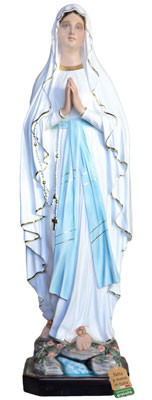 statua Madonna di Lourdes in vetroresina cm. 127
