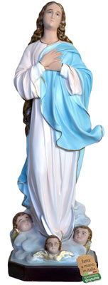 Statua Madonna Assunta del Murillo in resina cm. 100