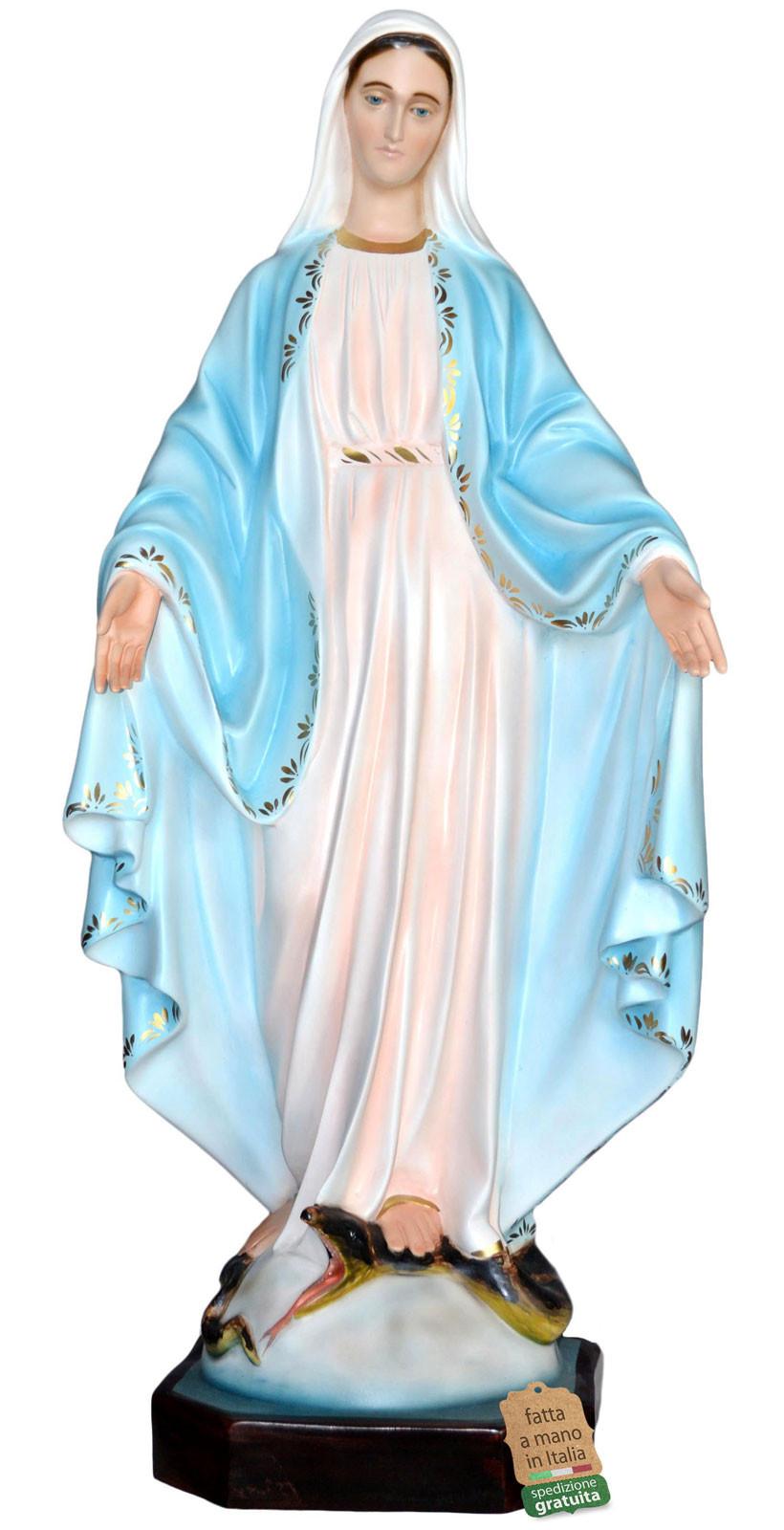 statua Madonna Miracolosa dipinta a mano