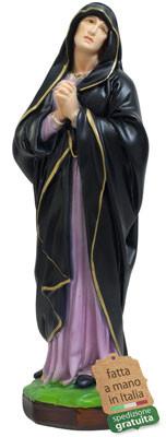 Statua Madonna Addolorata in resina altezza cm 40
