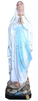 statua Madonna di Lourdes in vetroresina cm. 183