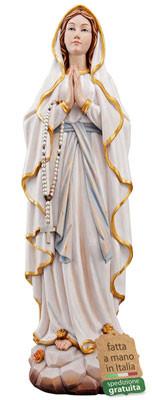 statua Madonna di Lourdes in legno