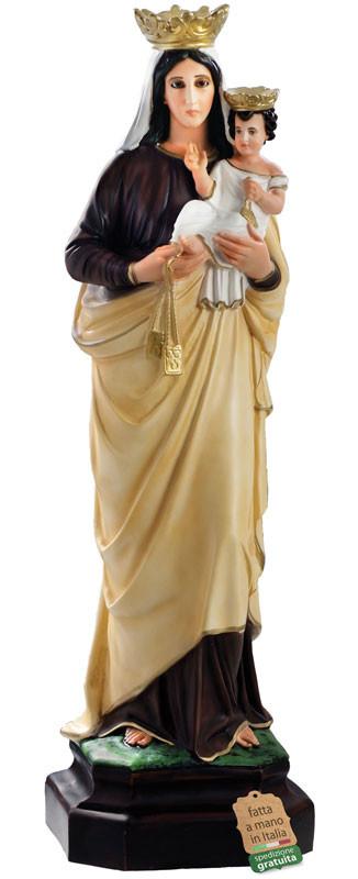 Statua Madonna del Carmine dipinta a mano