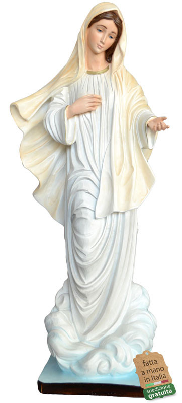 Statua Madonna di Medjugorje in resina