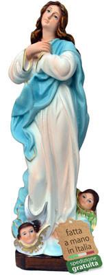 Statua Madonna Assunta del Murillo in resina cm. 30