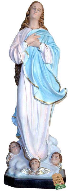 Statua Madonna Assunta del Murillo in vetroresina