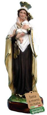 statua Madonna del Carmine in resina cm. 25