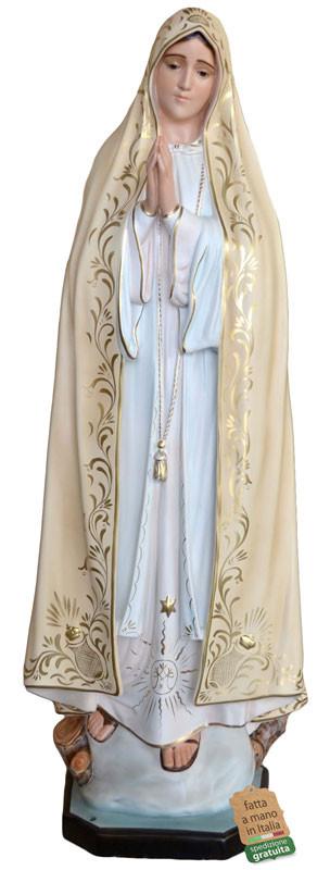 Statua Madonna di Fatima dipinta a mano