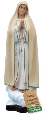 statua Madonna di Fatima in resina cm. 37