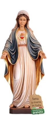 statua Sacro Cuore di Maria in legno
