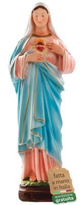 statua Sacro Cuore di Maria in resina cm. 40