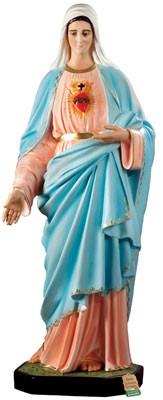 statua Sacro Cuore di Maria in vetroresina cm. 155