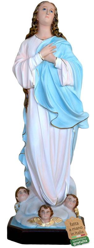 statue Madonna Assunta in resina