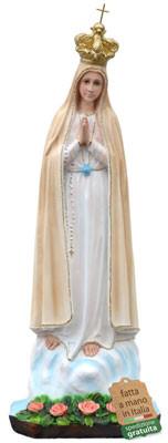 statua Madonna di Fatima in resina cm. 65