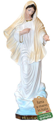 statua Madonna di Medjugorje in resina cm. 30