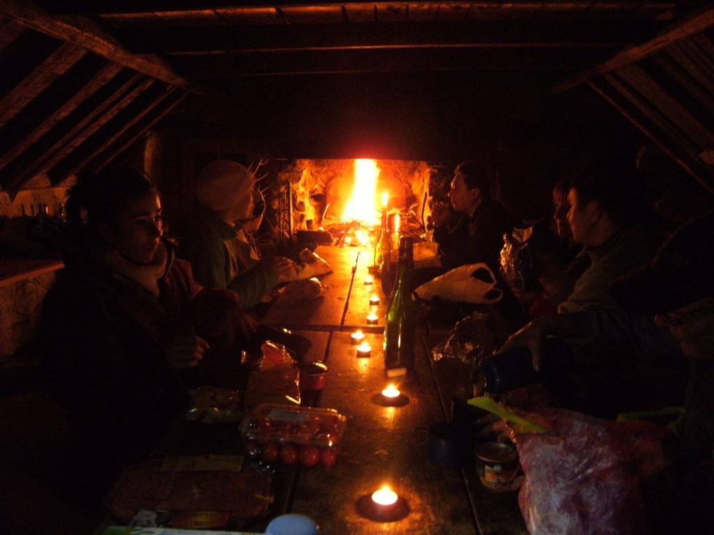 Randonnée nocturne avec casse crôute montagnard février 2010