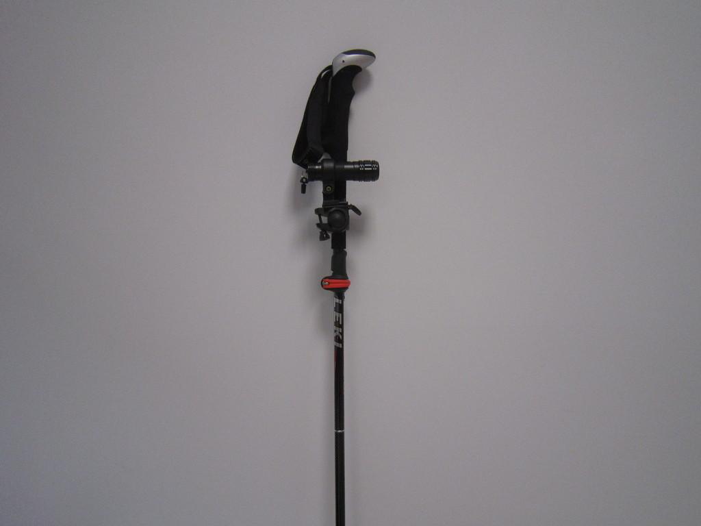 cámara instalada en el bastón