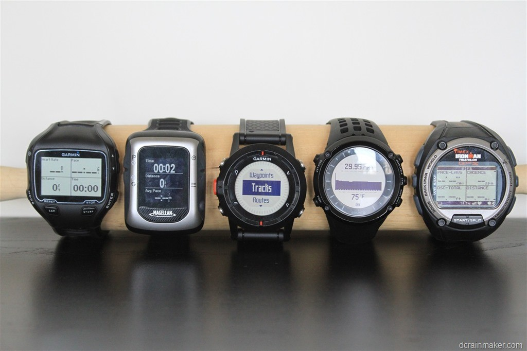 Garmin 910xt - Magellan Switch Up - Garmin Fénix - Suunto Ambit - Timex Global Trainer