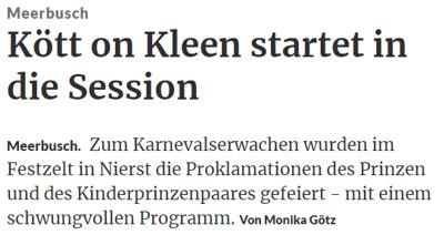 Rheinische Post 17.11.2017