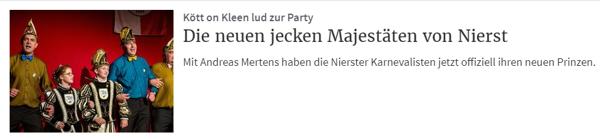 Rheinische Post 12.11.2018