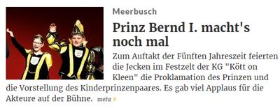Rheinische Post 14.11.2016