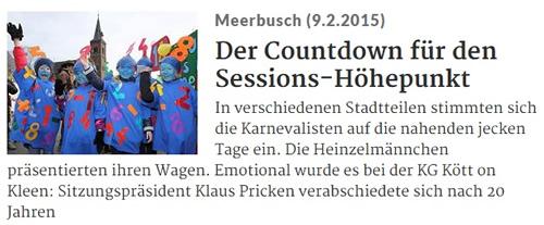 Rheinische Post 09.02.2015