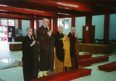 Ordination durch Großmeister Jy Din Shakya (1997)