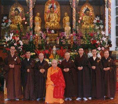 Der Gründer des Ordens Jy Din Shakya  im Hsu Yun Tempel auf Hawaii.