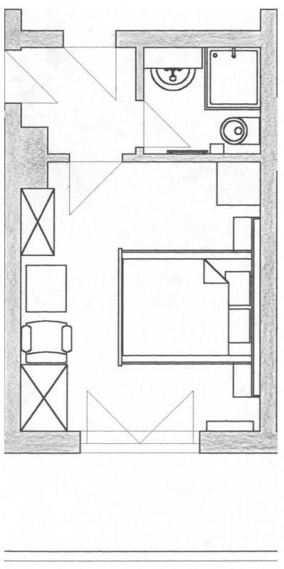 Grundriss Doppelbettzimmer