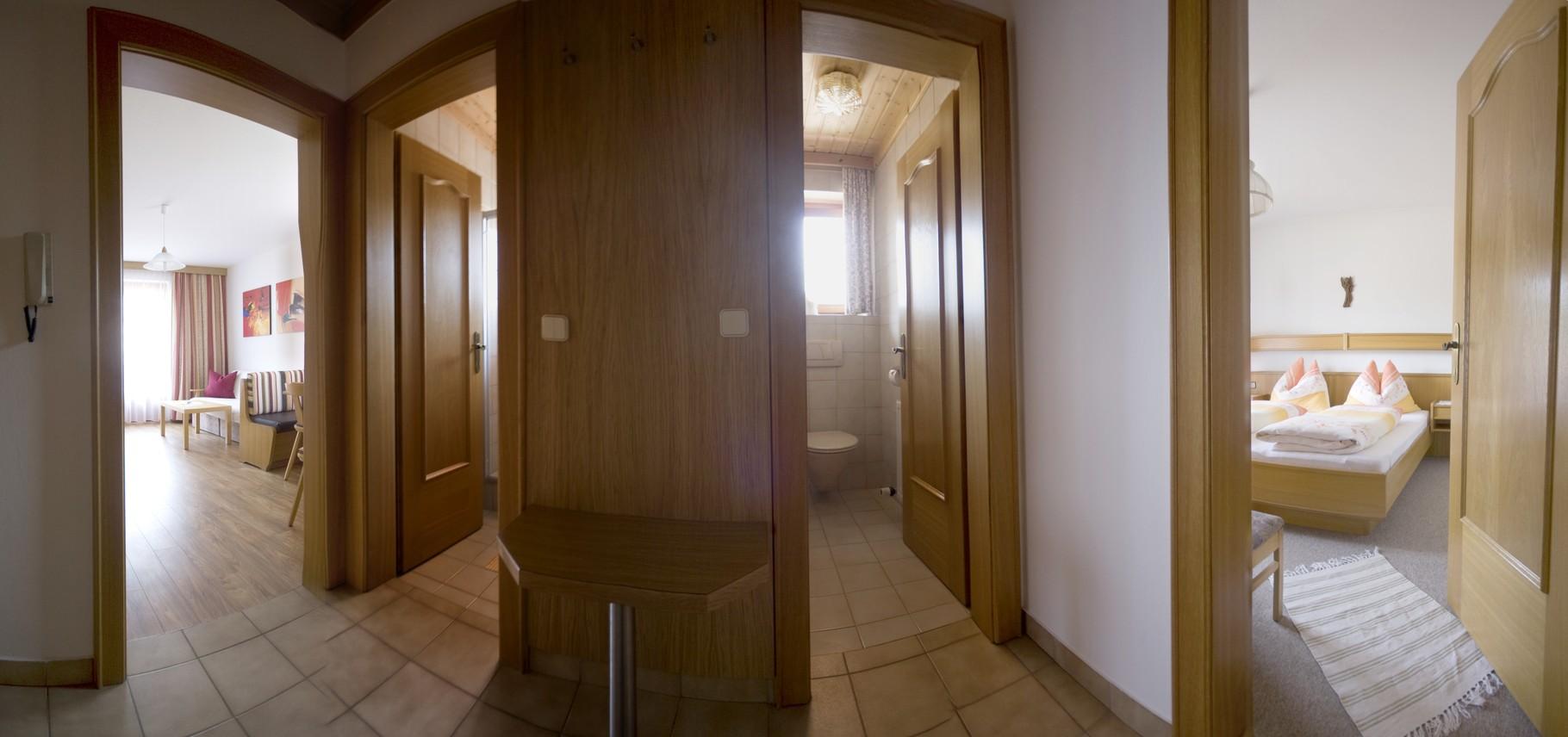 Eingangsbereich Ferienwohnung Typ A