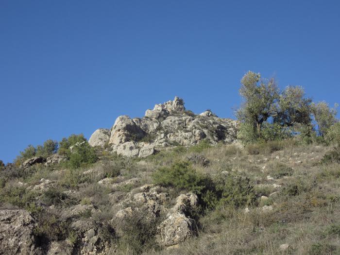 Wandern Natur Spanien Felsen Burgruine