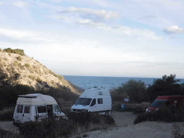 Frei stehen Spanien Valencia Meer Natur Vanlife