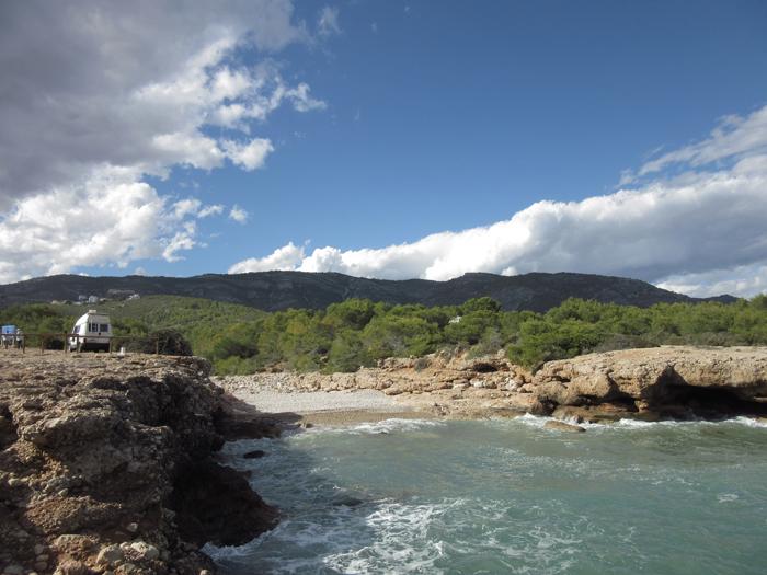 Vanlife frei stehen Mittelmeer Natur