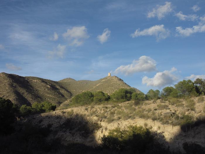 Natur Spanien Hügel Piraten-Wachturm