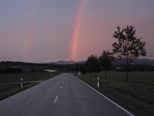 Regebogen Rainbow Landstraße Reisen