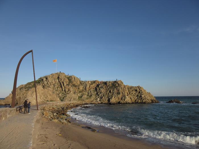 Blanes Meer Spanien Felsen