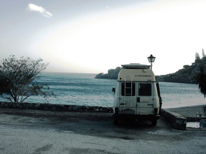 Meer Camper frei stehen Spanien
