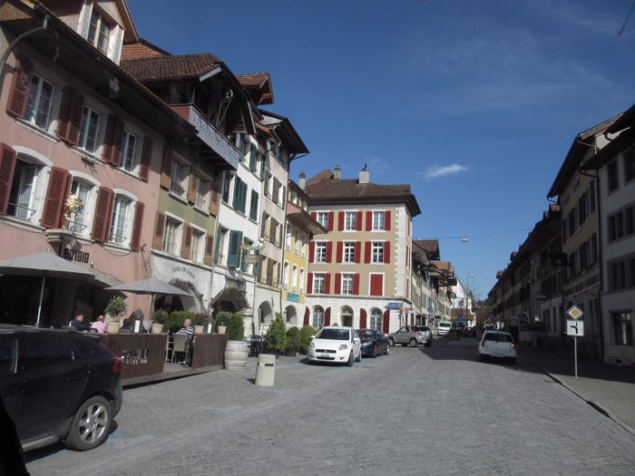 Schweiz Dörfer verzierte Häuser Alpen