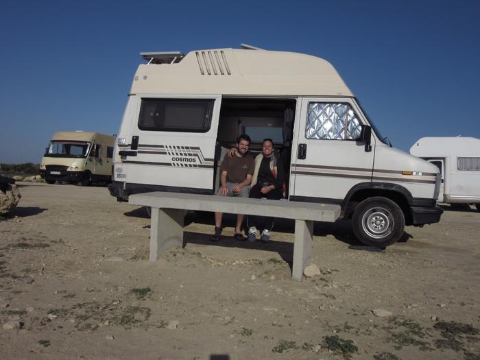 Zusammen fahren wir nach Conil und von dort zum Surfer-Ort El Palmar