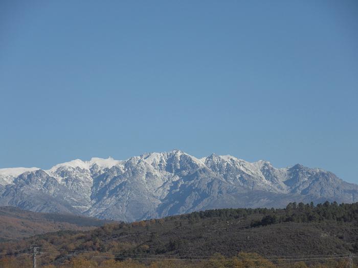 Gredos Berge Massiv Schnee Natur