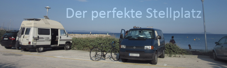Hyeres Parkplatz am Meer Vanlife Fiat Ducato VW T4