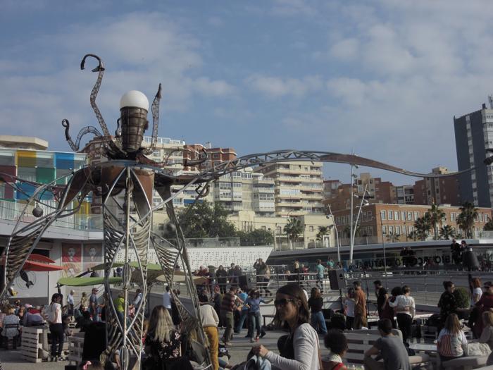 Malaga Art Kunst Hafen