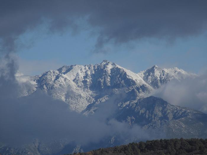 Berge Wolken Gipfel