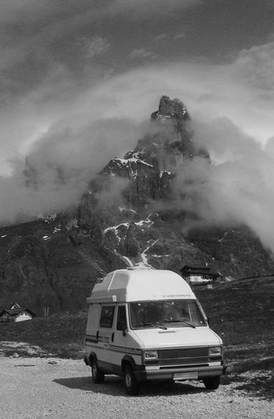 Dolomiten Berge Camper Urlaub Reisen Rolle Pass Aussteiger