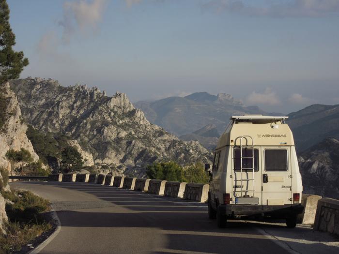 Natur Berge Fiat Ducato Weinsberg Spanien