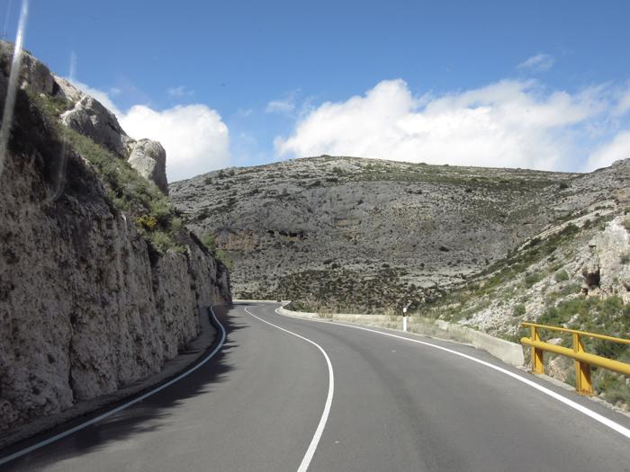 Gebirge Landstraße Spanien
