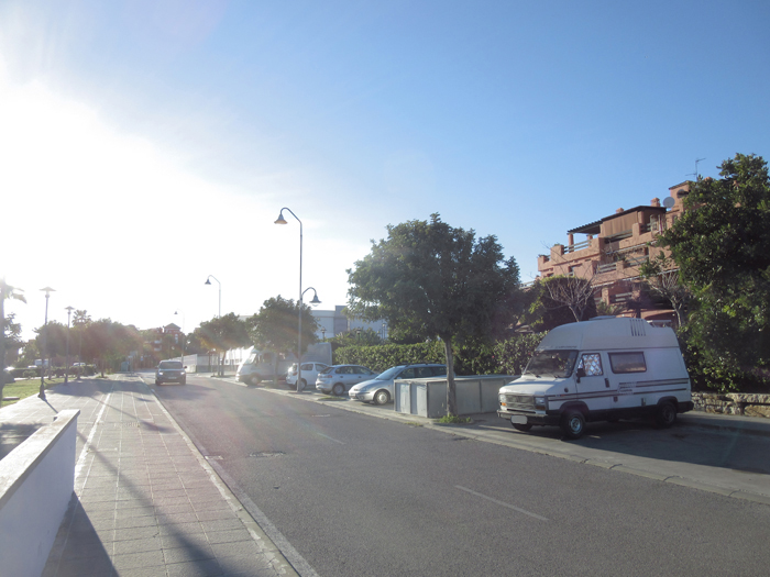 Estepona, frei stehen, stealth camping