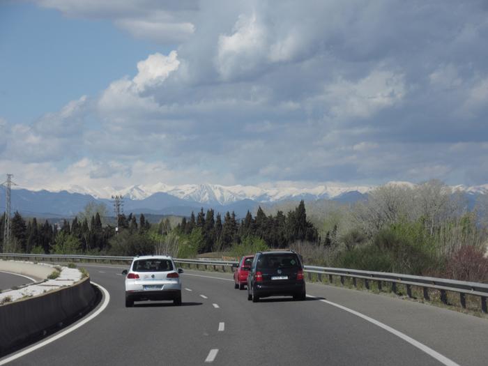 Pyrenäen Reisen Ausblicke schneebedeckt