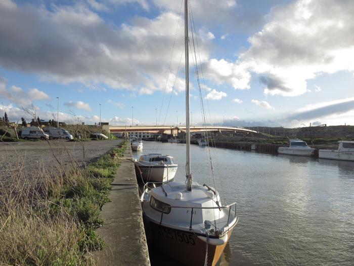 Fischerboote Segelboote Hafen Frankreich