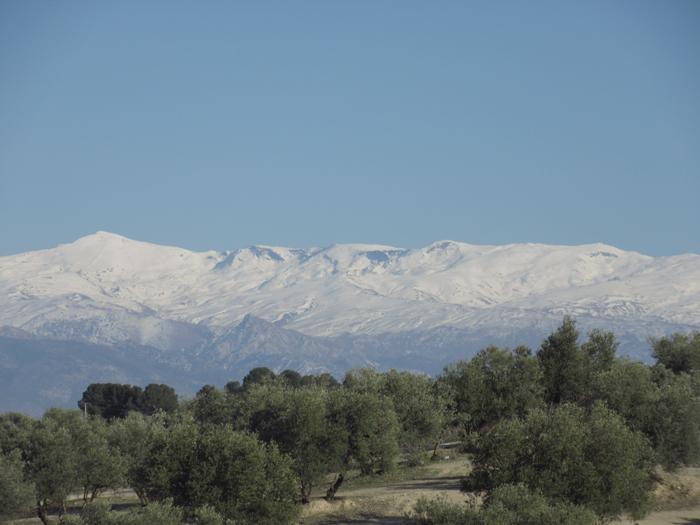Sierra Nevada Mulhacen Schnee Berge Reisen